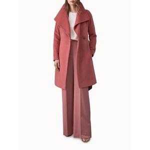 REISS Luna Belted Longline  100% Wool Coat…